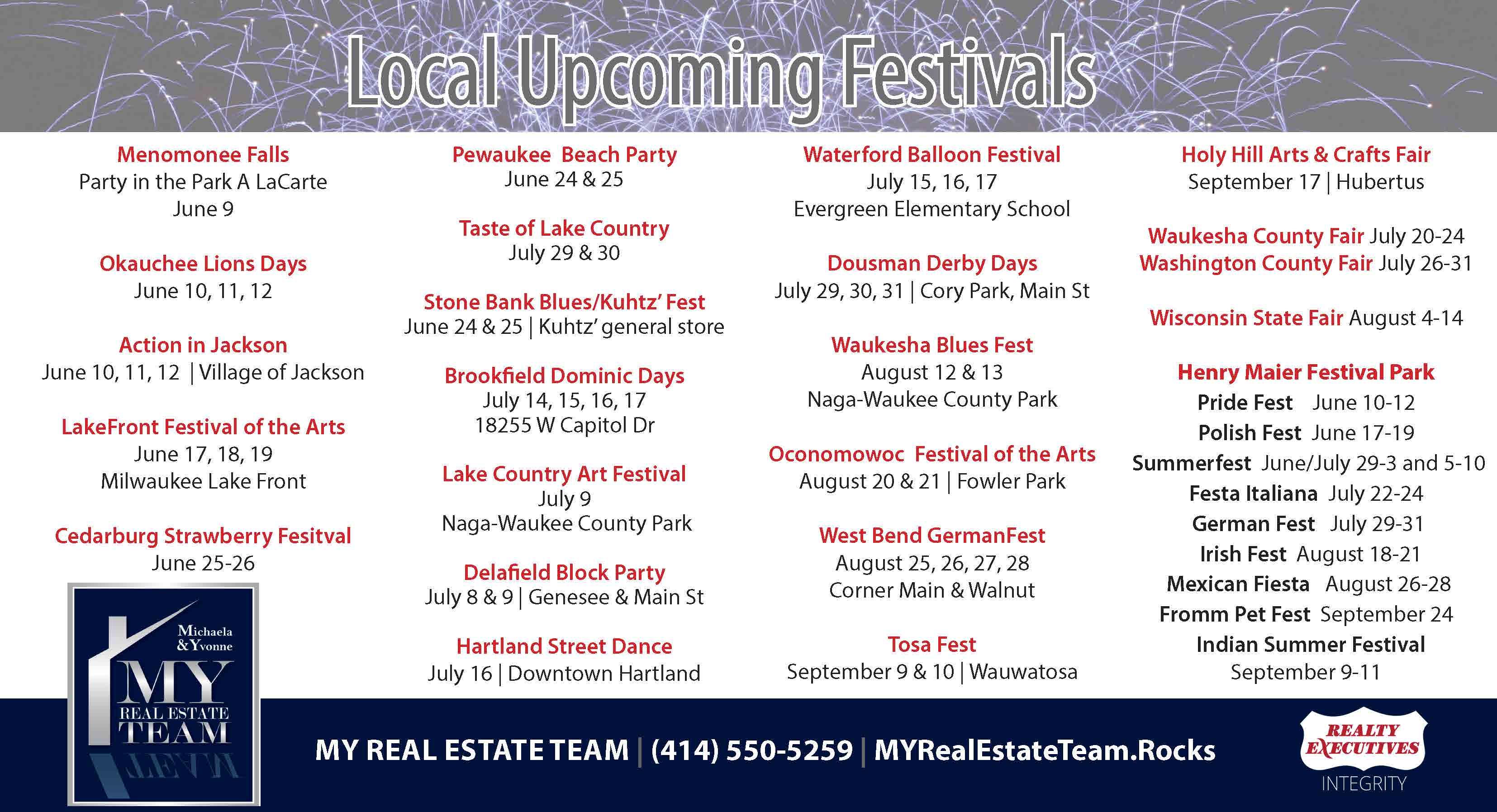 2016 Local Festivals